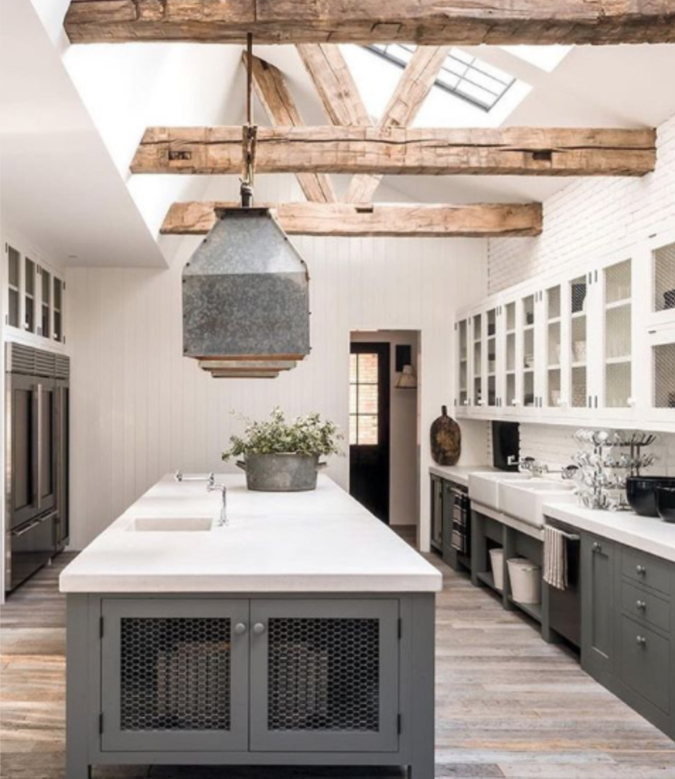 The 15 Most Beautiful Modern Farmhouse Kitchens On Pinterest Sanctuary Home Decor Modern Farmhouse Kitchens Farmhouse Style Kitchen Farmhouse Kitchen Colors