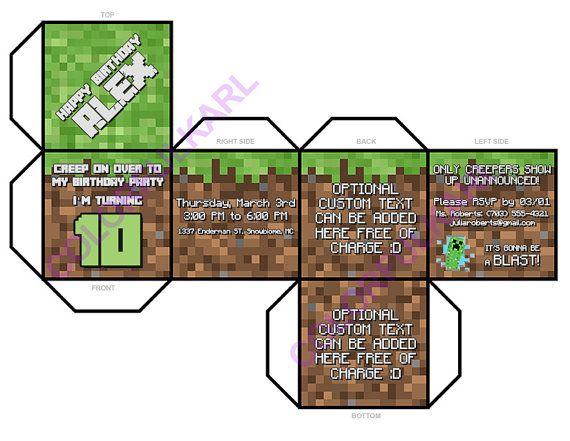 Custom minecraft birthday invitation card cube by colorfulkarl custom minecraft birthday invitation card cube by colorfulkarl filmwisefo
