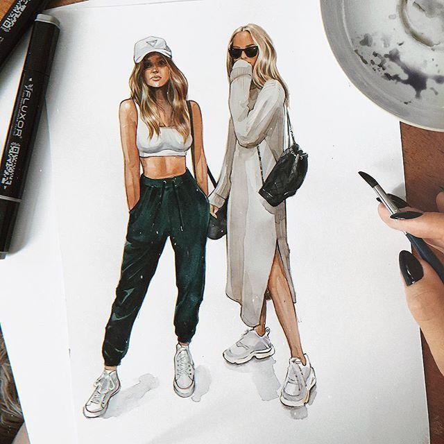 Photo of #streetstyle ##art ##fashion ##illustration ##fashionillustration #- # – My Zeichnung Blog