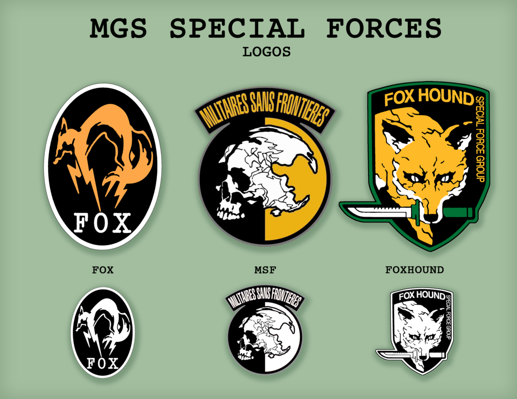 Mgs Logos I Need The Center Top One Made For My Cosplay Halloween Outfit Metal Gear Metal Gear Series Metal Gear Solid
