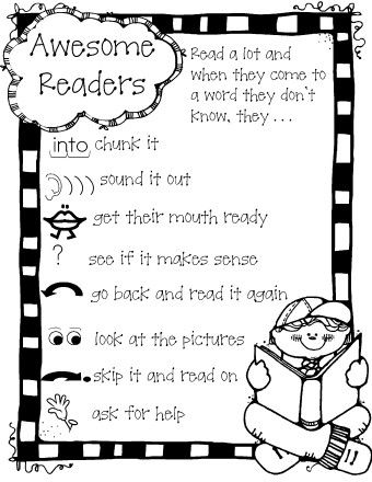 awesome readers.... great poster to remind students what good readers do as they read!