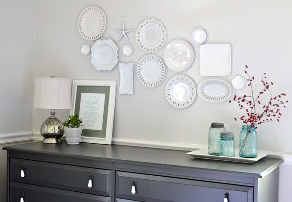 Hang Plates On Wall white plate wall + the cheaters way of hanging plates | plate wall