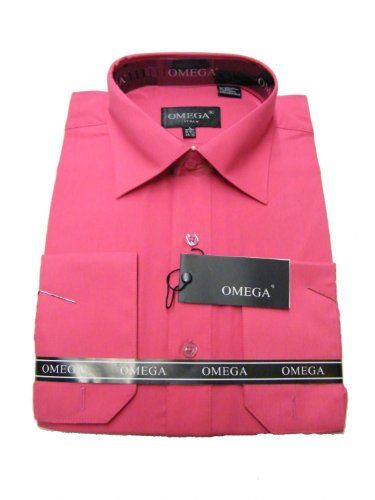 Fuchsia, hot pink Amazon.com: Omega Mens Dress Shirt Long Sleeve ...