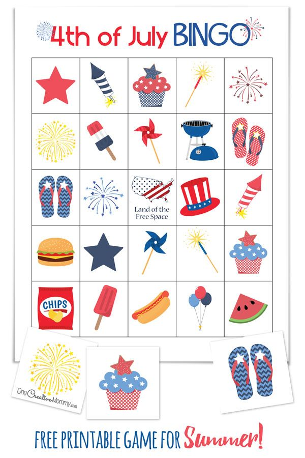 4th of july bingo calling cards family reunions and free printables cool summer game perfect for a 4th of july picnic or family reunion 4th of thecheapjerseys Image collections