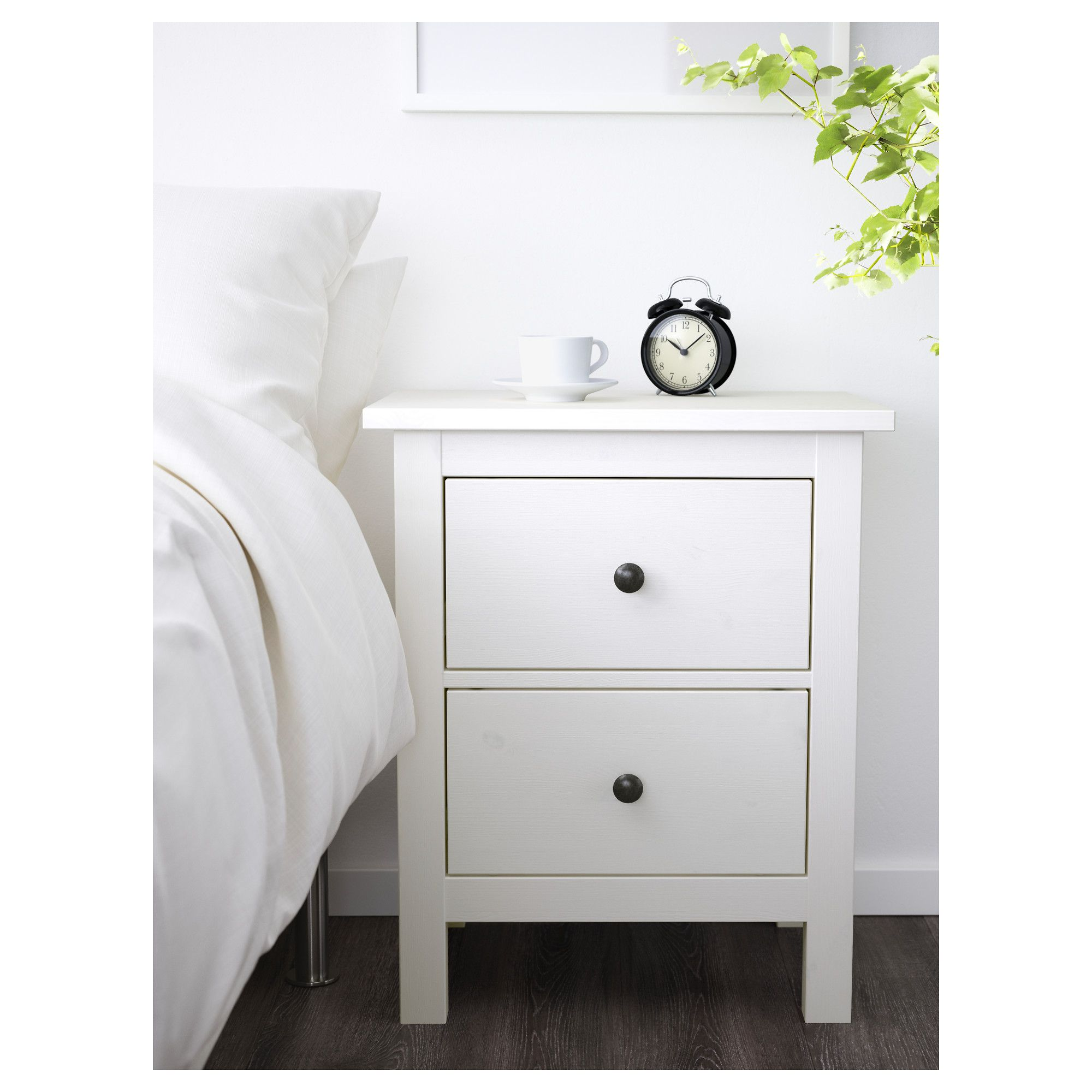 HEMNES white stain, Bedside table