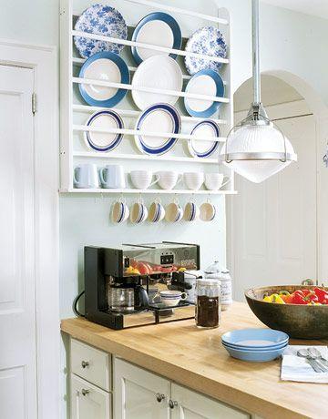 15 ideas creativas para organizar los platos en la cocina ...