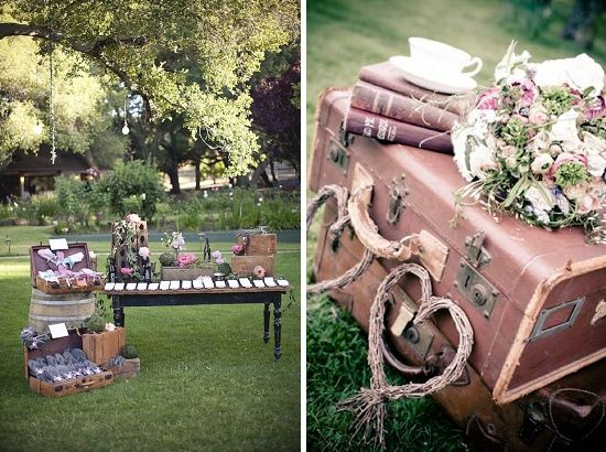 Photo of valise Vintage mariage – Happy Chantilly