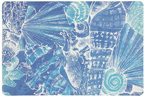 4 Indoor Outdoor Woven Placemats Deep Sea -- You can get more details by clicking on the image.