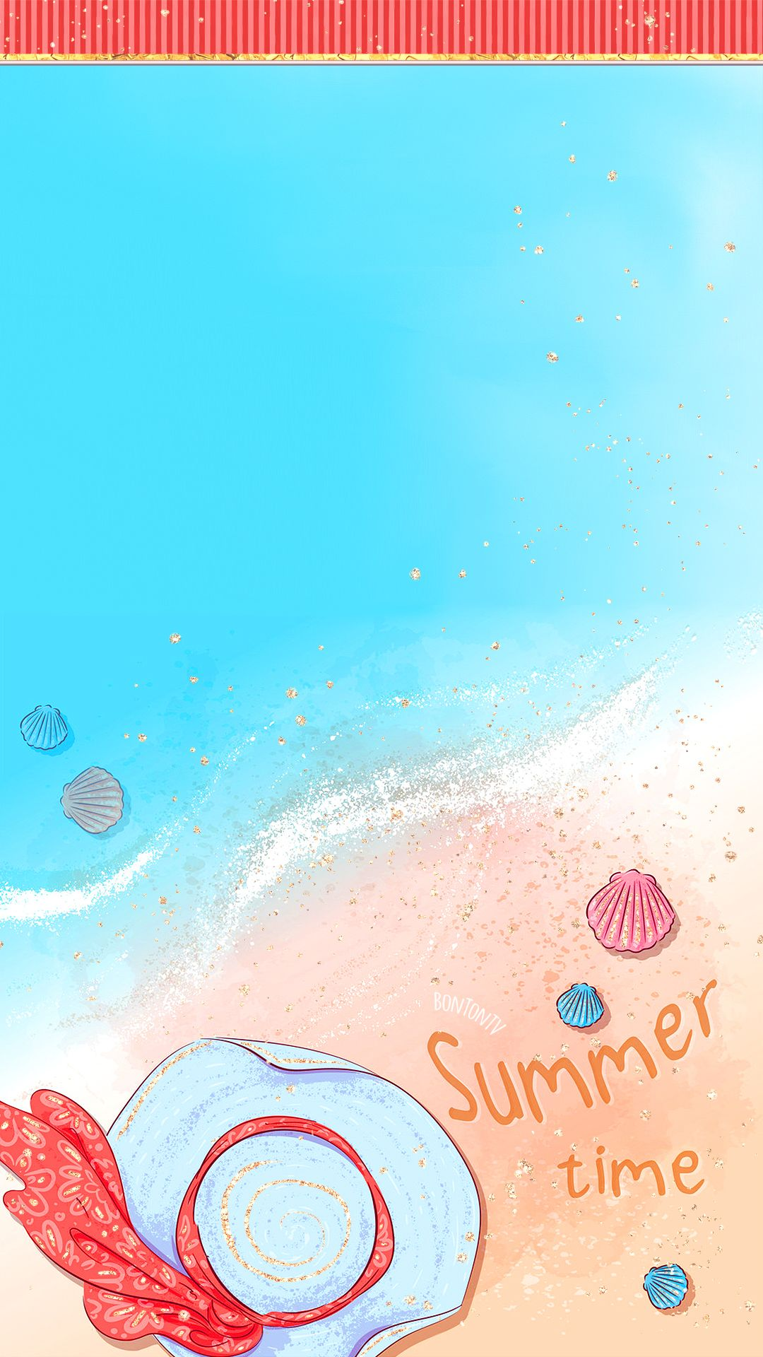 Phone Wallpapers Hd Cute Glitter Summer Beach By Bonton Tv