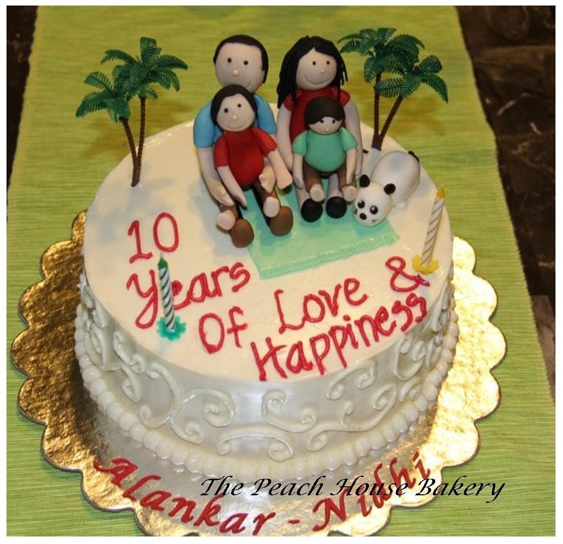 10 Year Wedding Anniversary Cake Ideas 36622