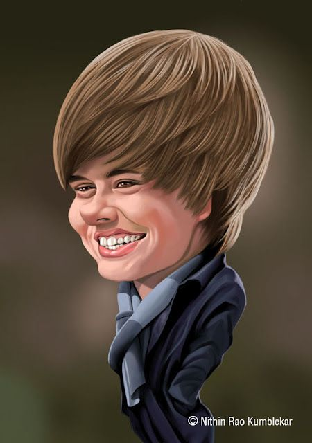 Drawn caricature famous celebrity - Pencil and in color ...