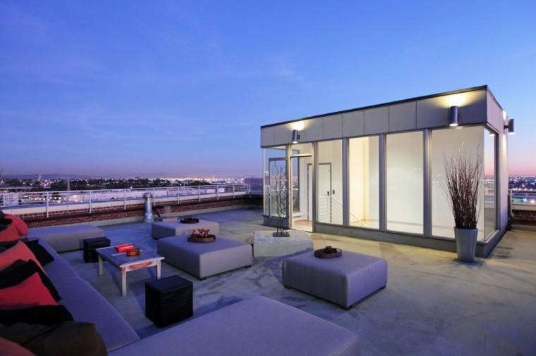 #Gartenterrasse Penthouse Terrasse Dekoration   Moderne Hochhäuser #Ideen  #art #dekor #garten