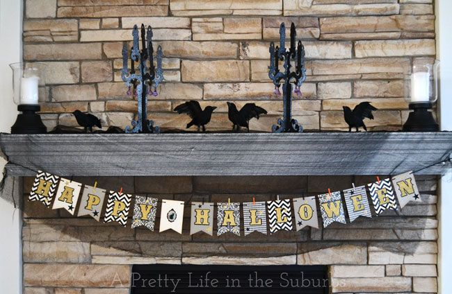 Easy DIY Halloween Banner! - A Pretty Life In The Suburbs