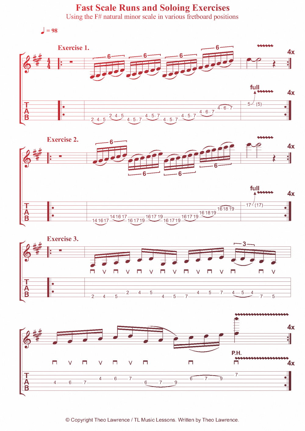 Pentatonic Scales And Beyond Guitar lessons, Guitar