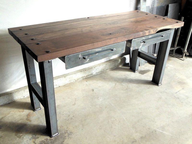 Vintage Modern Industrial Desk Par Customeffects Sur Etsy