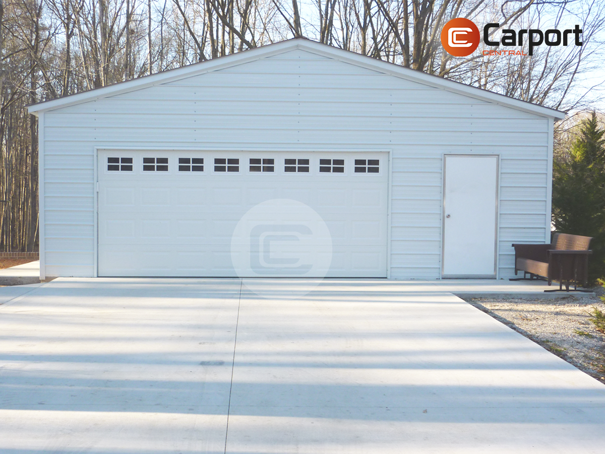 28x26 Vertical Roof Garage Prefabricated Two Car Garage For Sale Metal Building Prices Steel Carports Carport