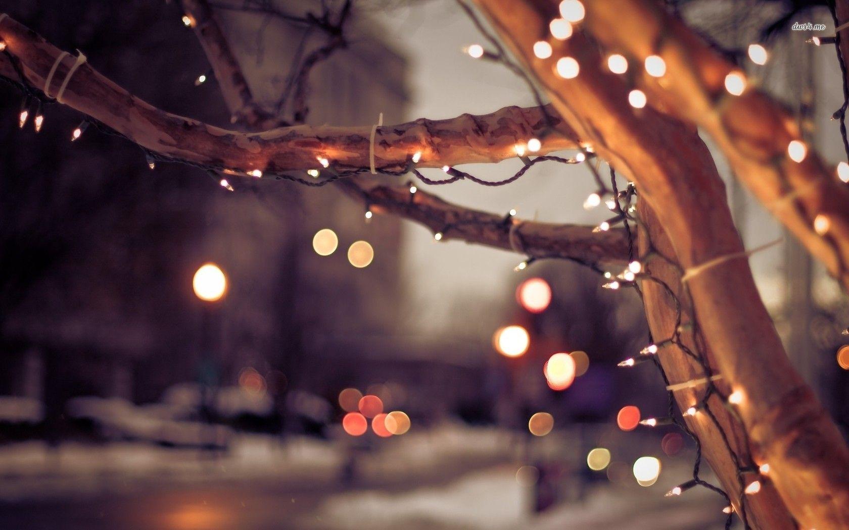 Christmas Lights On The Street Hd Wallpaper Christmas Light Photography Christmas Wallpaper Hd Christmas Lights Background