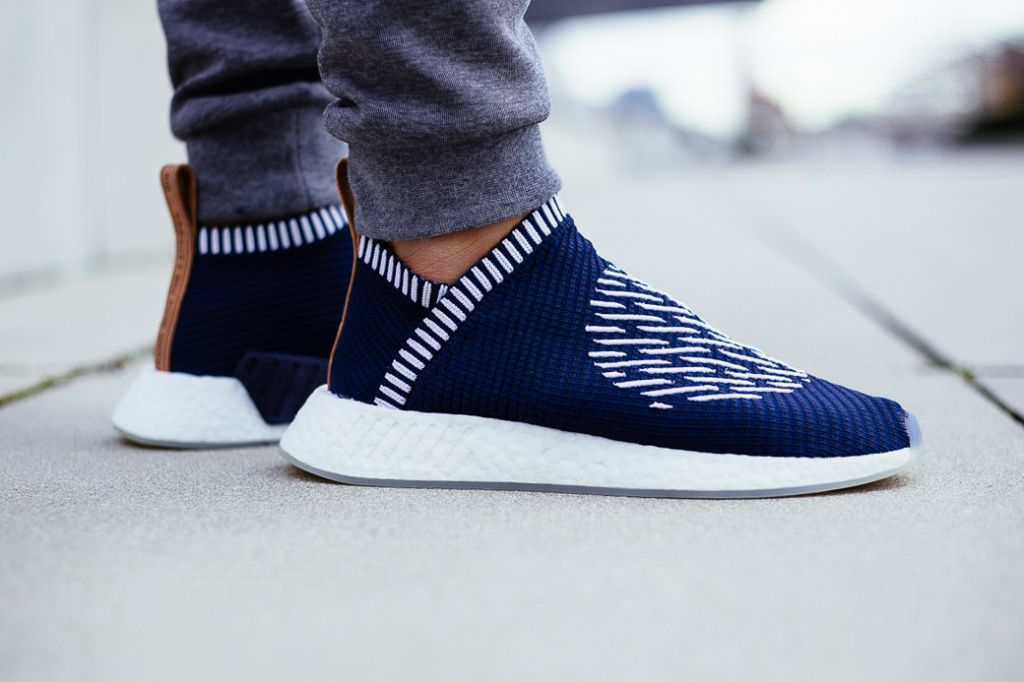 e576ea78d adidas Originals NMD City Sock 2 On-Feet Look Ronin Black Gray Silhouettes  Footwear Sneakers Shoes - 3773211