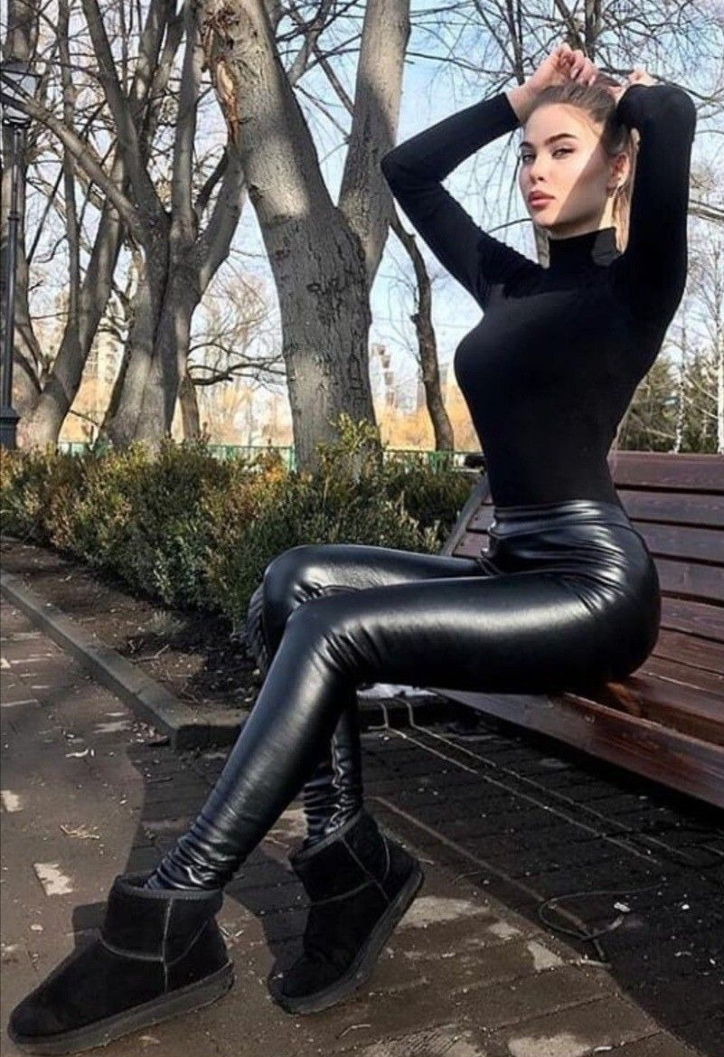 Leder Legging Fetisch