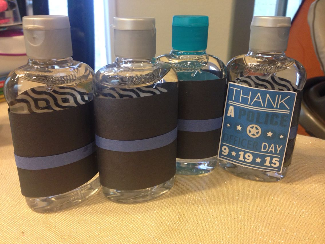 Thin Blue Line Hand Sanitizer For Thank A Police Officer Day