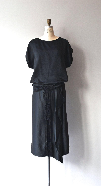 Metropolitan aire dress s silk dress u vintage black s dress