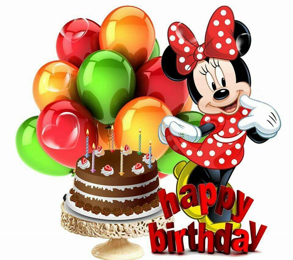 Minnie Happy birthday kids, Happy birthday disney, Happy