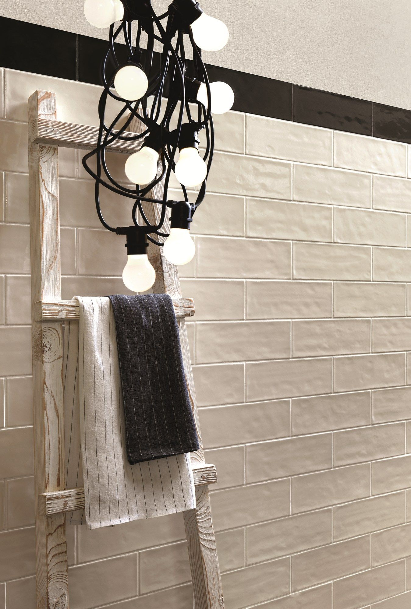 Indoor white-paste wall tiles BRICK GLOSSY by Ragno | Bathroom ...