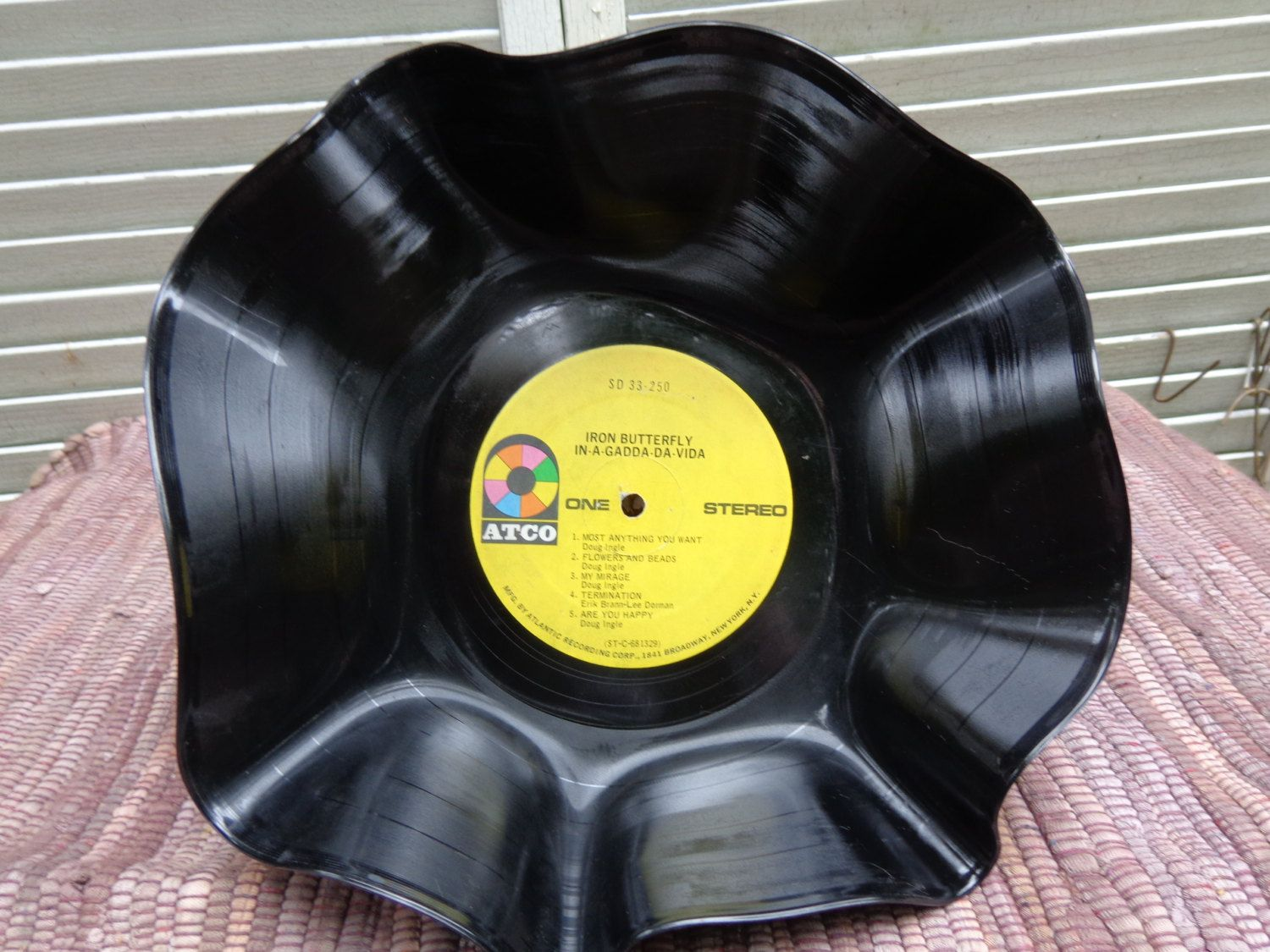 Record Bowl Music Altered Art Iron Butterfly by ByLightOfMoon ...