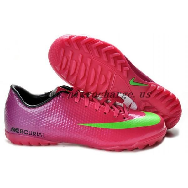 competitive price ac99a 70eb0 Nike Mercurial victory IX TF 2012 Futsal Football Shoes in Red Green Purple