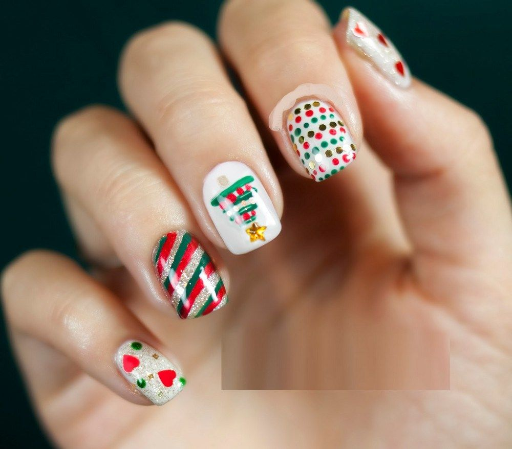 Easy Christmas Nail Art Designs For Beginners Step By Step | nail ...