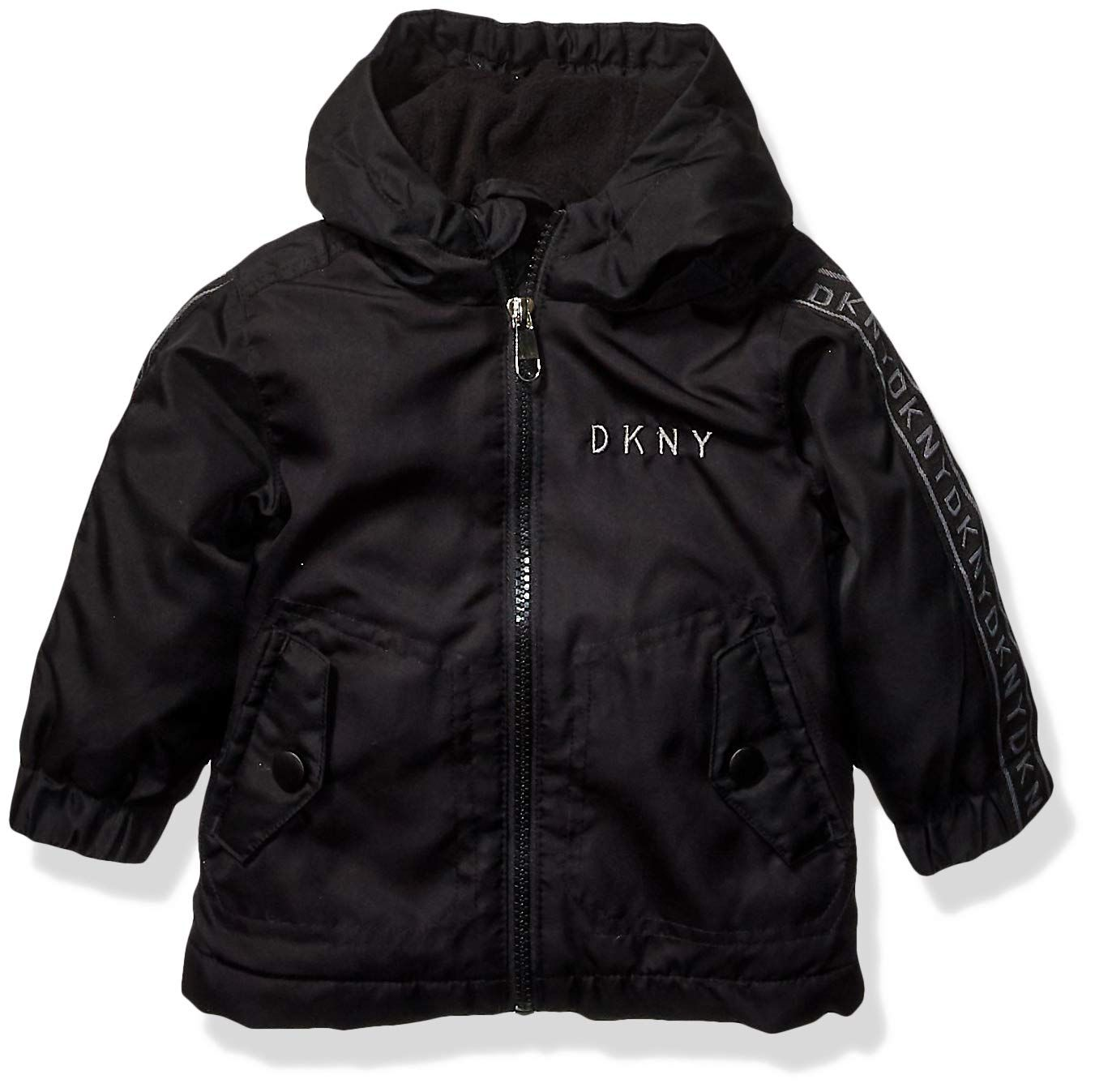 Dkny Baby Boys Fashion Outerwear Jacket Logo Sleeves Black 24m Continuously The Product At The Imag Baby Boy Jackets Baby Girl Jackets Kids Fashion Clothes [ 1347 x 1351 Pixel ]