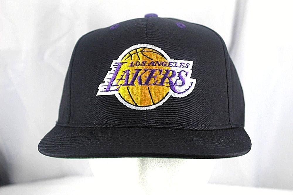 69e71154588f7 Los Angeles Lakers Black NBA Baseball Cap Snapback  Adidas  BaseballCap