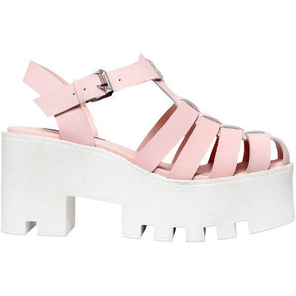 Windsor Smith Women 80mm Fluffy Leather Platform Sandals (350 BRL) ❤ liked  on Polyvore ae4c63d7c