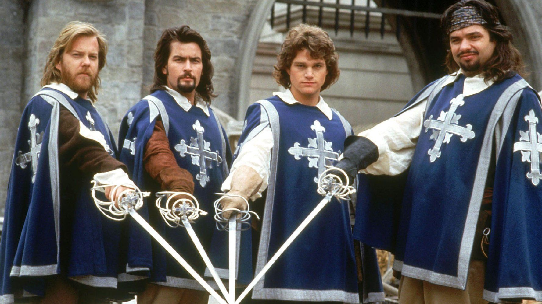 Movie The Three Musketeers 1993 People Charlie Sheen Chris O Donnell Kiefer Sutherland Oliver The Three Musketeers 1993 The Three Musketeers Musketeers