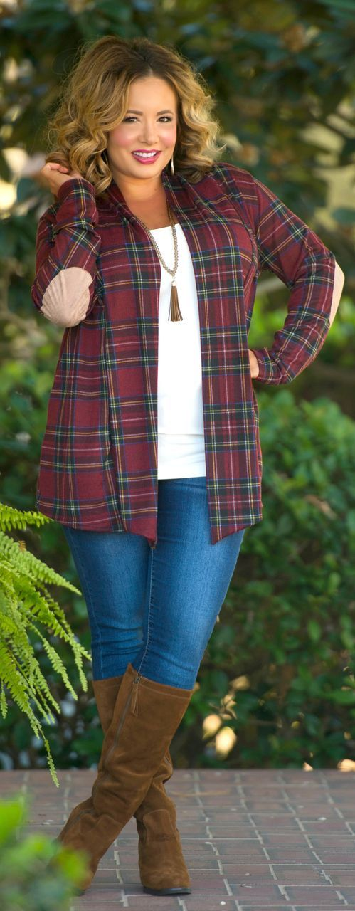 1efbba5c072  fall  outfits   Plaid Shirt - Tall Boots