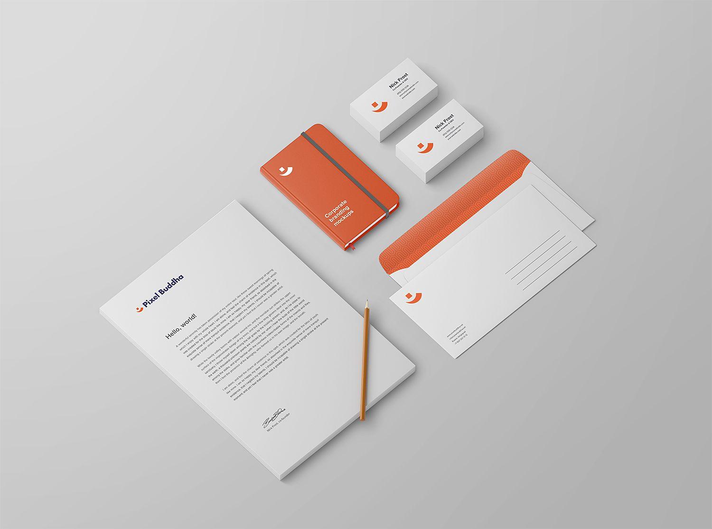 Free Identity Branding Psd Mockup To Showcase Your Branding Stationery Design In A Photorealistic Look Psd File C Mockup Free Psd Free Logo Mockup Logo Mockup