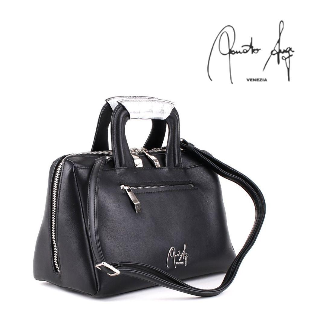 39fb72d582f4 Женская сумка Renato Angi T4360RA Черная итальянская сумочка из натуральной  кожи коллекции осень-зима 2018/19!