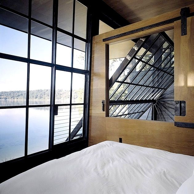 Bedroom with a view. by Olson Kundig Architects