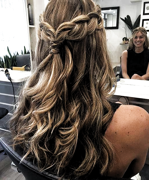 Prom Hairstyles For Long Hair Half Up Half Down Hair Hairstyles Long Prom Hair In 2020 Long Hair Styles Prom Hairstyles For Long Hair Down Hairstyles