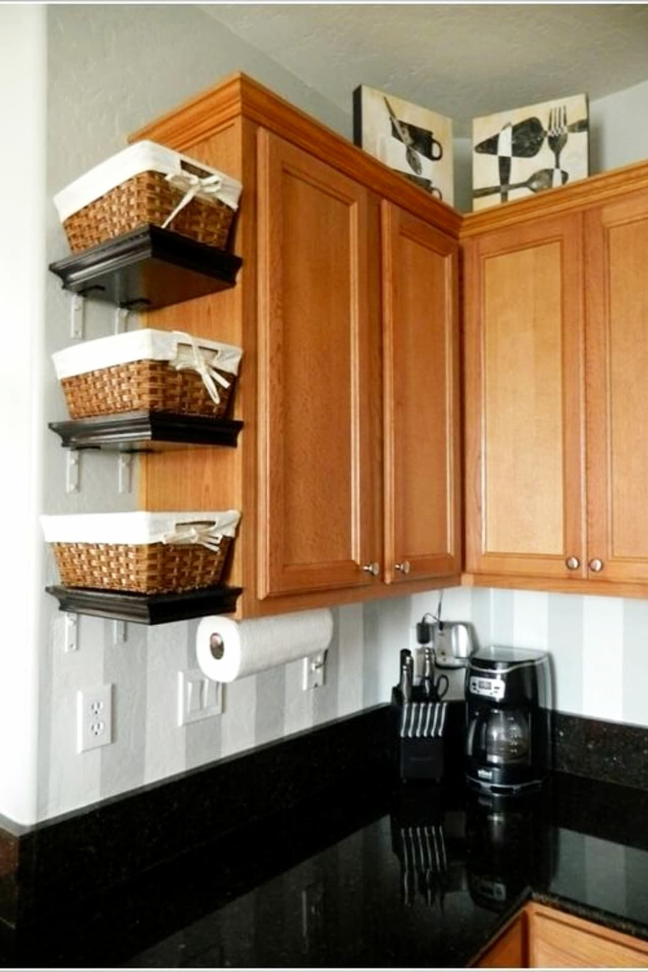 declutter your kitchen diy shelves to organize a country farmhouse kitchen on a budget diy on kitchen organization diy id=40380