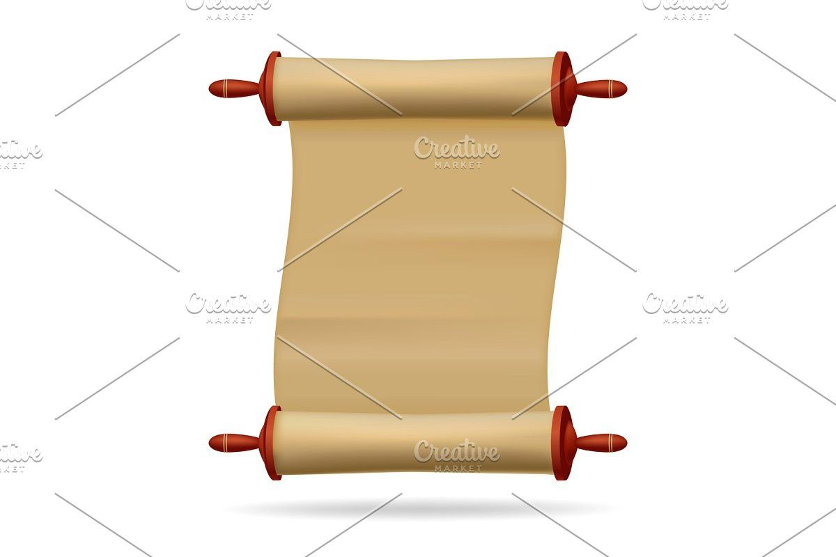 Blank Paper Text Scroll Paper Poster Mockup Certificate Templates