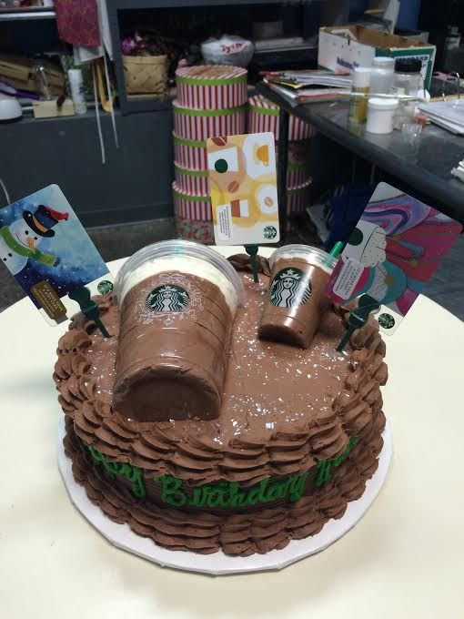 Starbucks Birthday Cake - Adrienne & Co. Bakery