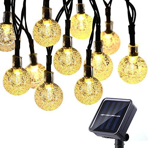 Solar String Lights 50 LED 23ft Solar Patio Lights With 8 Modes, Waterproof  Crystal Ball String Lights For Patio, Lawn, Garden, Wedding, Party, ...