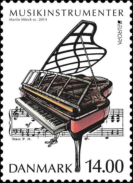 denmark postage stamp