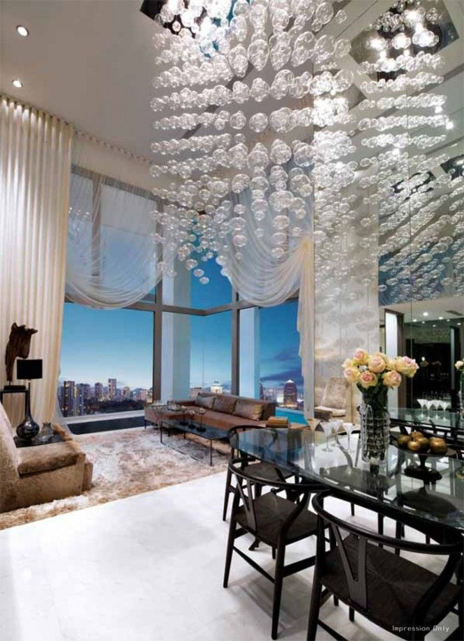 Via Kj Homehigh Ceiling Window Treatments Are Often Stark But High Curtains Can Work Well When Created In A Sheer Fabric To Still Make The Most Of