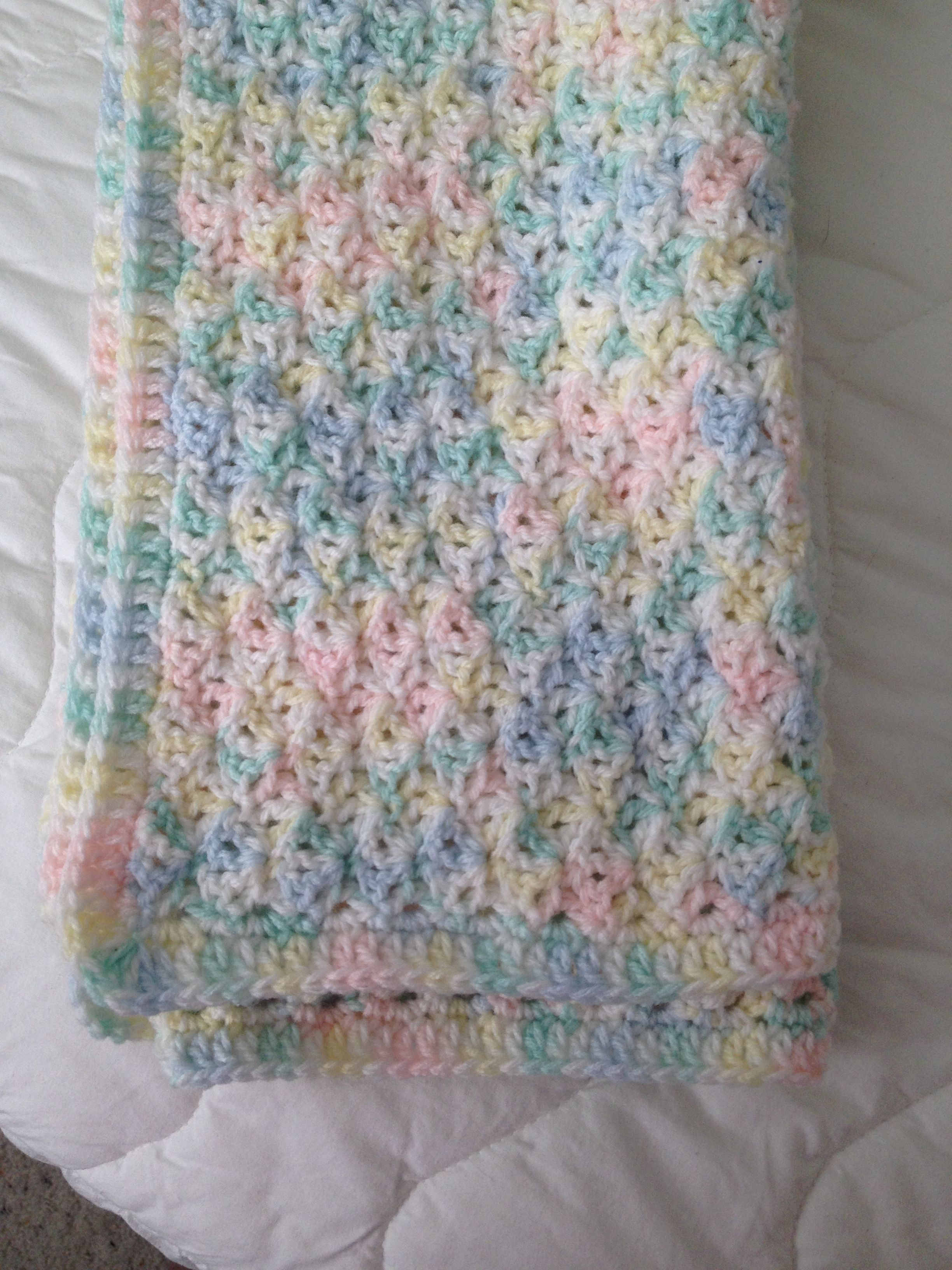 ce926de865 Baby blanket using Loops and Threads Snuggly Wuggly yarn