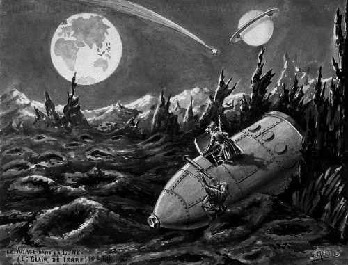 Georges Méliès, Le Voyage Dans La Lune (A Trip To The Moon); Cinematography by Théophile Michault and Lucien Tainguy / Star Film Company, 1902.