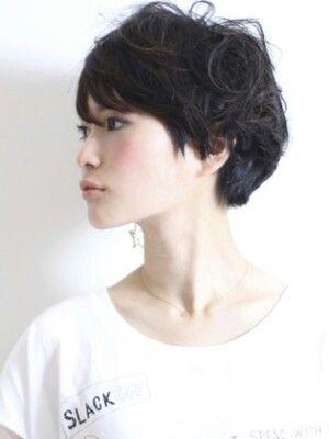 Short Haircut Side View Short Wavy Hair Asian Short Hair Hair Styles