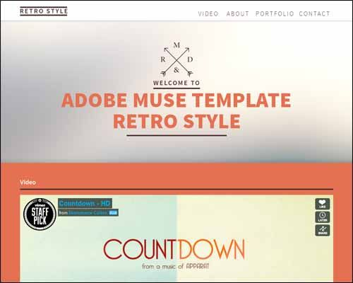 Free and premium responsive Adobe Muse templates | Web Design ...