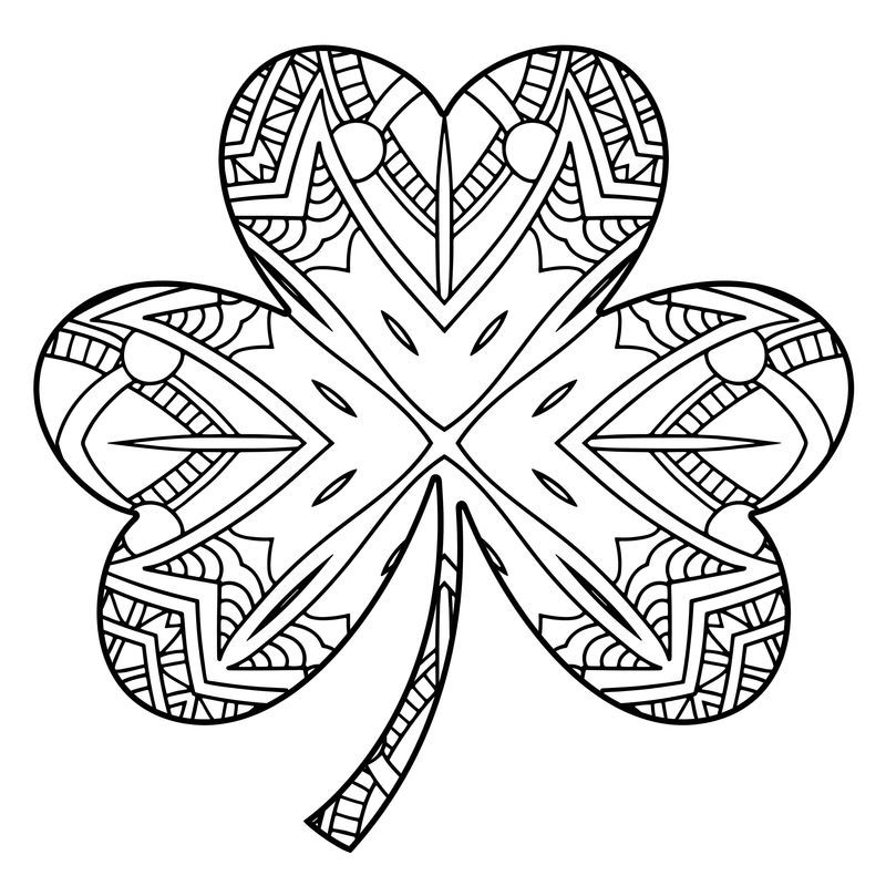 Complete Shamrock Coloring Pages To Print Coloring Pages St